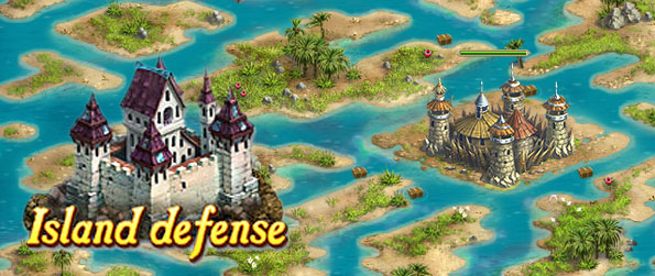 Island Defense - Defend the 7 kingdoms from the savage ship invaders in this challenging tower defense game.