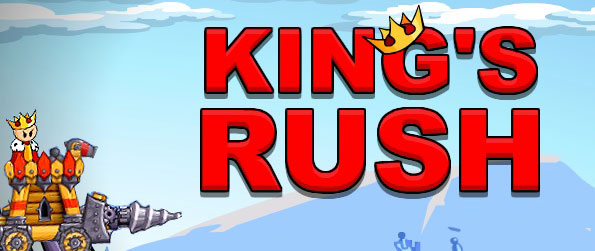 King's Rush - Burst your ways through the enemy ranks as you take on the sole mission to save a lovely princess in this wonderful physics game in facebook.