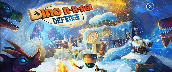 Dino R-r-age Defense - Help a scientist and his electronic assistant defend their time machine before surging dinosaur units obliterates their base of operations in this thrilling tower defense game.