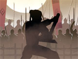 Shadow Fight 2 dueling in the arena